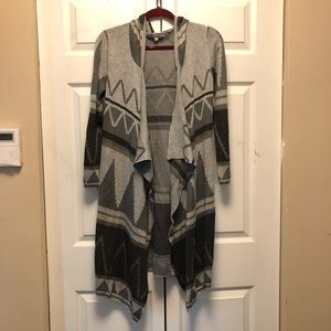 Cecilia Southwest Patterned Long Hooded Cardigan